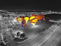varm luftballongfestival Arkivbild