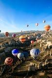 varm luftballongflygandehändelse Royaltyfri Fotografi