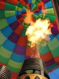 varm luftballonggasbrännare Arkivfoto