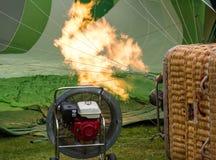 varm luftballonggasbrännare Arkivfoton
