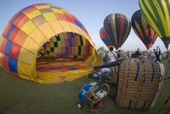 varm luftballongpåfyllning arkivfoton