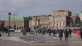 Varm marsdag i Stockholm sweden lager videofilmer