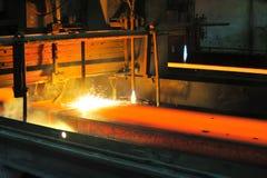 varm metall för cuttinggas fotografering för bildbyråer