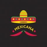 Varm Mexicano Chili Pepper Logo mall Mexicansk snabbmatlogotyp Royaltyfri Foto
