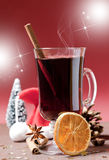 varm mulled wine Royaltyfria Foton