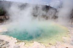 varm nationalparkfjäder yellowstone Royaltyfria Bilder