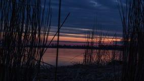 Varm och färgrik solnedgång lager videofilmer