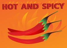Varm och kryddig orange bakgrund Stock Illustrationer