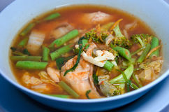 Varm och sur curry Arkivfoto