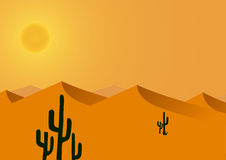 Varm och torr ökenbakgrund Arkivfoto
