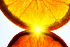 Varm orange signalljus Arkivfoto