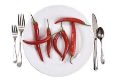 varm pepparplatta för chili Royaltyfria Bilder