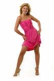 varm pink för klänning arkivbilder