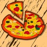 varm pizza Royaltyfri Bild