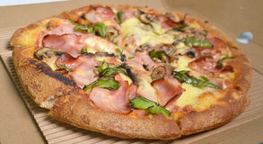 Varm pizzaleverans Royaltyfri Foto