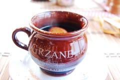varm polerad wine Royaltyfri Bild