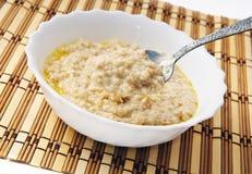 varm porridge Arkivfoton