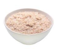 varm porridge för frukost royaltyfri fotografi