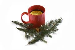 Varm röd funderad jul vin, November 14, 2014 Arkivfoton