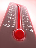 varm röd termometer Royaltyfri Foto