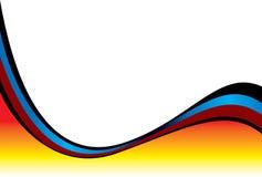 varm röd wave vektor illustrationer