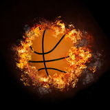 varm rök för basketbrand Arkivfoto
