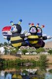 varm race för luftballong Arkivbilder