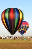 varm race för luftballong Arkivfoton