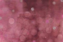 Varm rosa bakgrund för abstrakt rund bokeh Fotografering för Bildbyråer