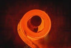 Varm-rullande stålprocess Fotografering för Bildbyråer