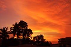 varm sky Arkivfoton