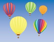 varm sky för luftballons Arkivfoto