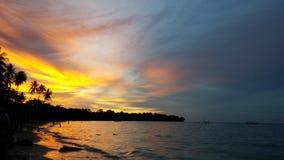 varm solnedgång Arkivbilder