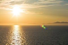 Varm solnedgång Royaltyfria Foton