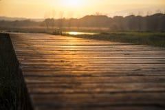 Varm solnedgång i lagun Fotografering för Bildbyråer