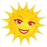 varm sommarsun Arkivbild