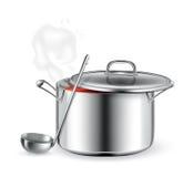 varm soup royaltyfri illustrationer