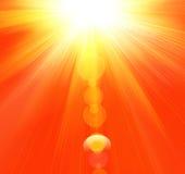 varm strålsommar Arkivfoto