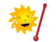 varm sun Fotografering för Bildbyråer