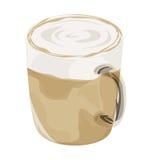 Varm symbol för lattekaffevektor Arkivfoto