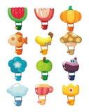 varm symbol för luftballongtecknad film Royaltyfri Fotografi