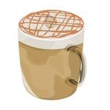 Varm symbol för vektor för karamellmacchiatokaffe Royaltyfri Foto