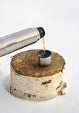 varm tea för flaska Royaltyfri Fotografi