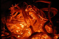 varm textur för brand Arkivfoto