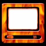varm tv för ram Arkivbild