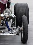 varm tävlings- retro stång för bilfriktion Fotografering för Bildbyråer