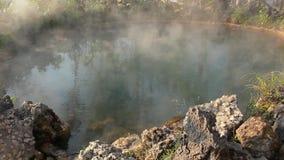 Varm vår för rök från Hot Springs lager videofilmer