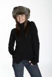 varm vinter för hatttröja Arkivbilder