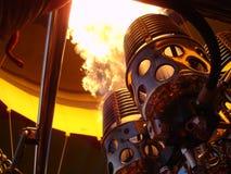 varma burning flammor för luftbaloongasbrännare Royaltyfria Bilder