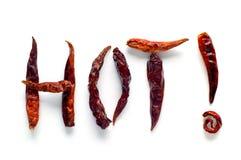 varma chilies Royaltyfri Foto